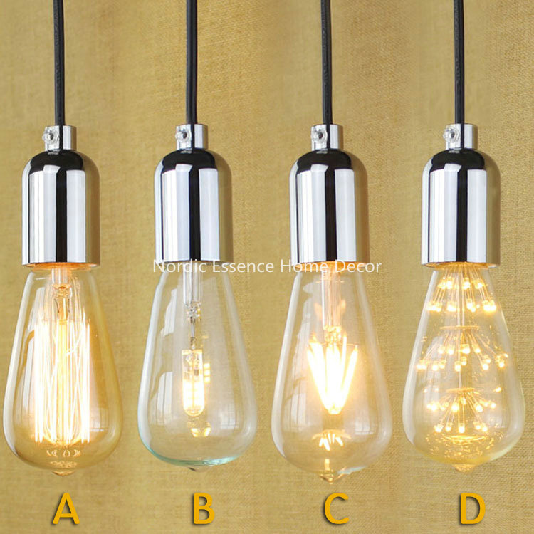 American country long staircase personalized clothing store restaurant bar living room chandelier decorative string Edison lamp(China (Mainland))