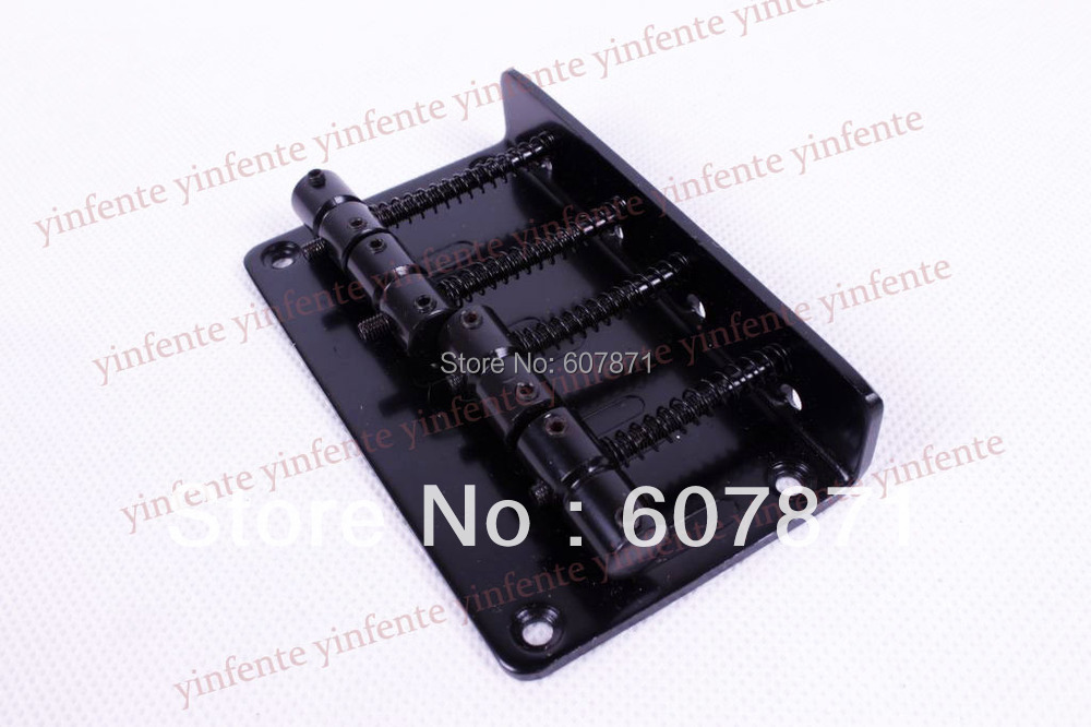 Black Metal 4 String Vintage Bass Bridge For Electric Bass Guitar BY913(China (Mainland))