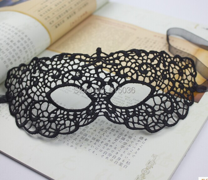 Free shipping !!! Dance Party Lace Flower Lady Eye Mask Black Women Flower Fashion(China (Mainland))
