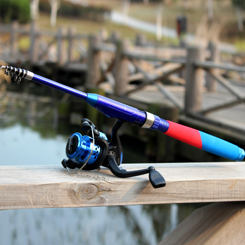Travel telescopic fishing rod spinning carbon fishing rod for Best travel fishing rod
