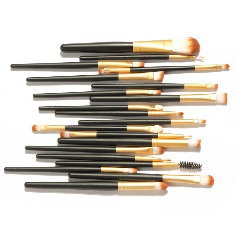 200set/lot Professional Cosmetics Makeup Brush Tools 20Pcs Make Up Eyeshadow Eyebrow Mascara Lip Sponge Eyeliner Brushes Set Kit<br><br>Aliexpress