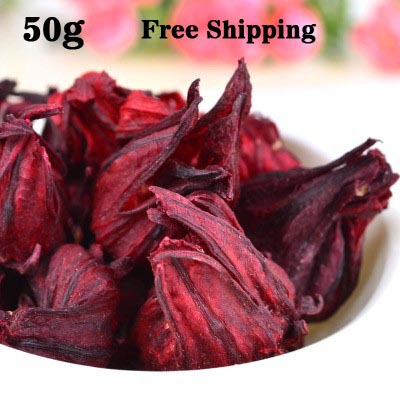Гаджет  Promotion! 50g Pure Natural Hibiscus Tea Roselle Tea Dried Flower Tea Free Shipping None Еда