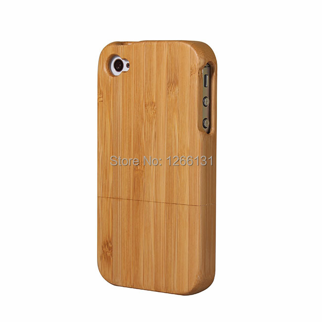 Hot Sale Fashion Genuine Bamboo Wood Shell Cover Wooden Case Carving Natural Bamboo Back Covers For Apple Iphone 4 4S I 4 i4(China (Mainland))