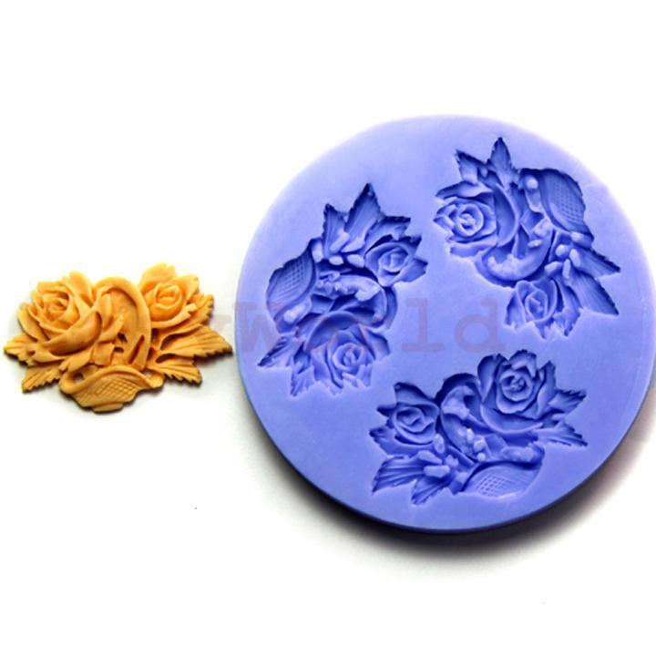 Flower Polymer Clay Silicone Mold For Fimo Expoxy Resin Craft Jewelry 45mm(China (Mainland))