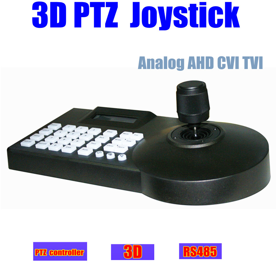 LCD CCTV ptz camera 3D Joystick Keyboard Controller Pelco-P/Pelco-D RS-485 for Analog AHD CVI TVI ptz speed dome camera Joystick(China (Mainland))