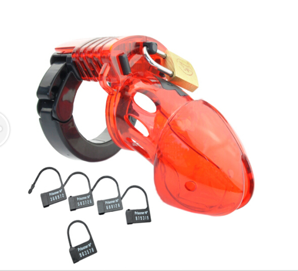 New CB6000S Red color Penis Lock Male Cock Cage Sex product chastity device Penis sleeve adjustable penis rings fetish Sexo<br><br>Aliexpress