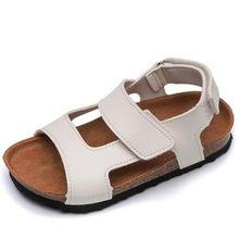HaoChengJiaDe קיץ ילדים עור מפוצל סנדלי תינוק בנות מקרית נעלי ילדי חוף סנדלי בני מותג נעלי אופנה ספורט סנדל(China)