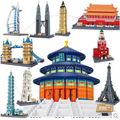Wange 8011 8020 Great architectures 10 models London Bridge Big Ben Tiananmen Building Block Sets Educational