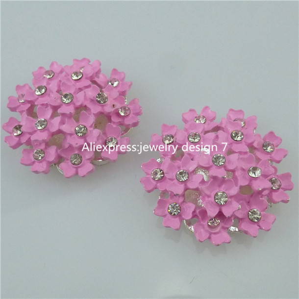 Free Shipping 13836 4PCS Pink Resin Flower Flatback Appliques For Phone/Wedding/Craft Making(China (Mainland))