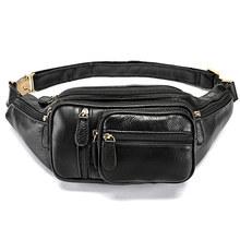 MVA Multi-função Saco de Cinto de Dinheiro Cintura Fanny Pacote de Telefone Sacos de Cintura dos homens de Couro Genuíno Bolsa Sacos Do Mensageiro saco de Homens 8336(China)