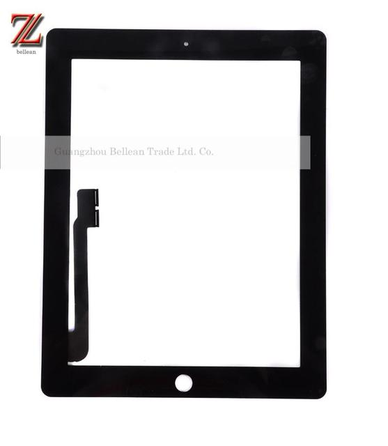 original Touch Screen Digitizer With Home Button Assembly+sticker for iPad 3 digitizer White and Black 30pcs free Fedex