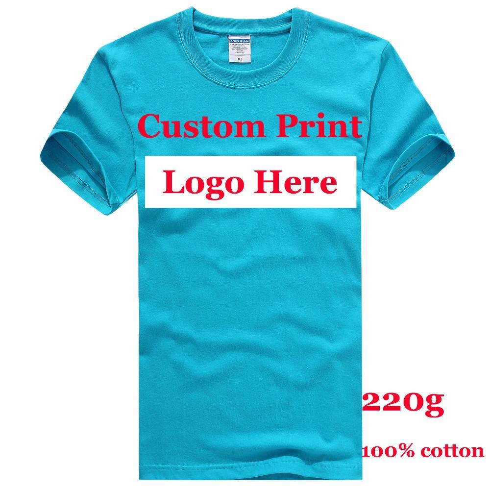 Digital Printing Professional Custom tshirts Camisas heat transfer printing Embroidery Logo T Shirts all Cotton Plain Tees HY(China (Mainland))