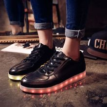 Led luminous shoes women Led shoes for adults Men shoes 2016 fashion Canvas shoes men casual plus size
