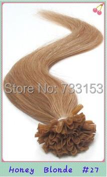 Retail 18 20 22inch 0.5g/s 100strand/pc 2pcs/lot 27# Rosa Hair Silky Straight Pre Bonded Keratin Nail U Tip  Hair Extensions<br><br>Aliexpress