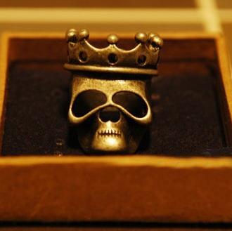 CEV fashion retro skeleton ring cheap skull head ring vintage skull ring 2014 hot sale women rings(China (Mainland))