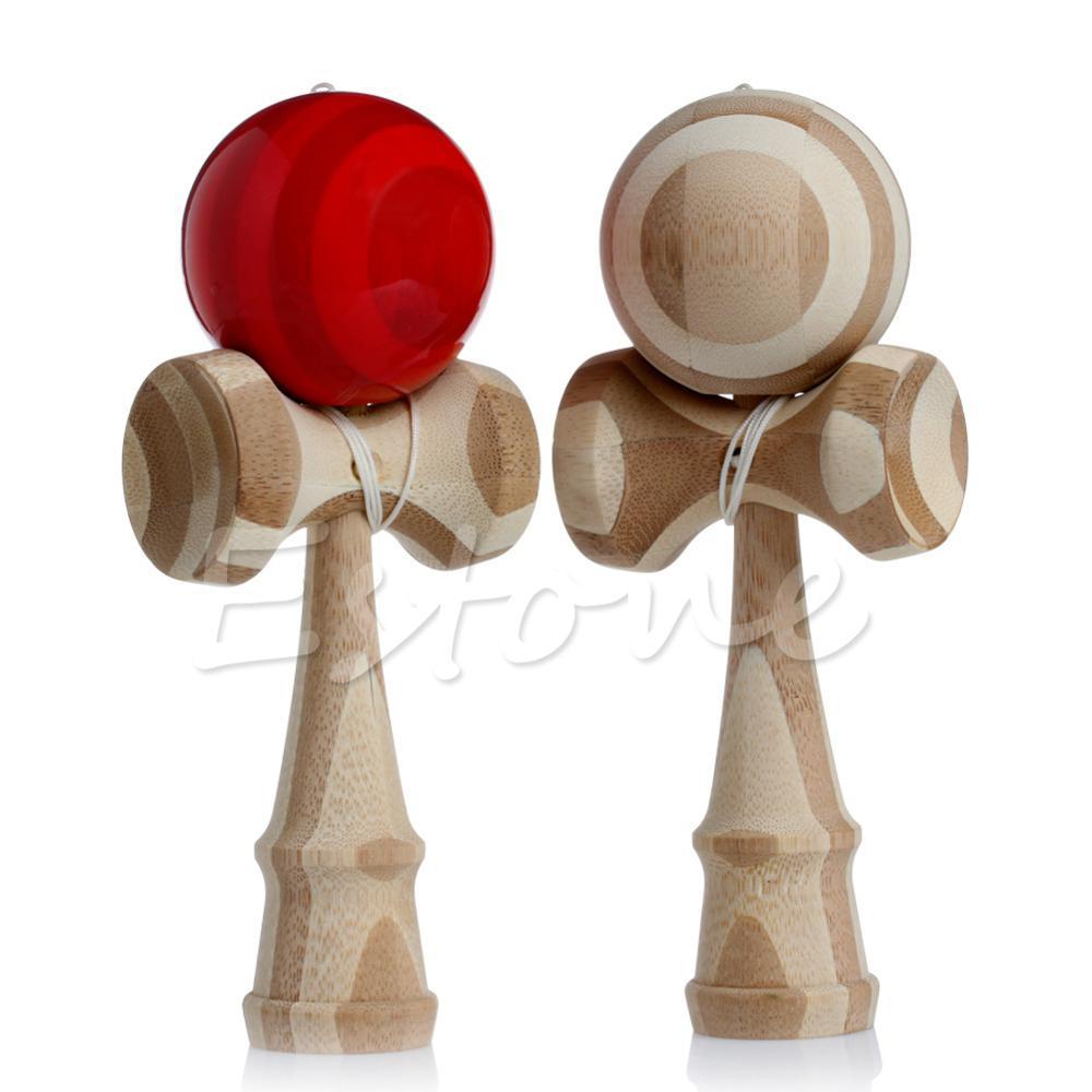 Kid Kendama Coordinate Ball Japanese Traditional Wood Game Skill Educational Toy A16880(China (Mainland))