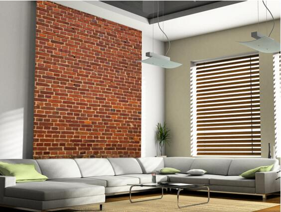 Custom retro wallpaper brick wall distressed 3d wallpaper for Distressed brick wall mural