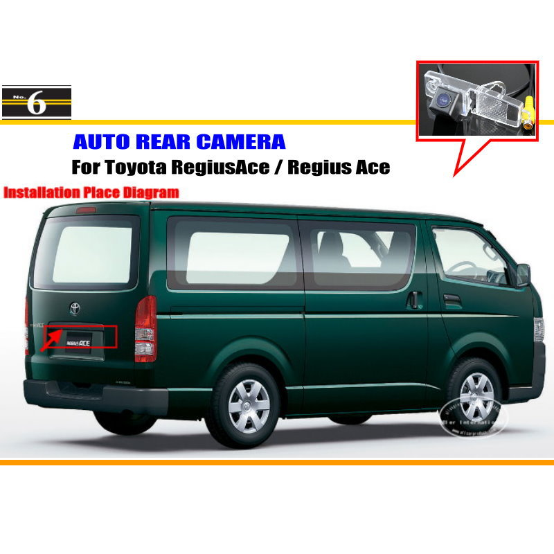 Car Camera For Toyota RegiusAce / Regius Ace / Rear View Camera HD CCD RCA NTST PAL / License Plate Light OEM(China (Mainland))