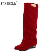 Buy Women Flat Knee Boot Fashion Winter Snow Warm Long Boots Riding News Design Botas Ladies Dress Footwear Shoes Size 32-43 for $27.91 in AliExpress store