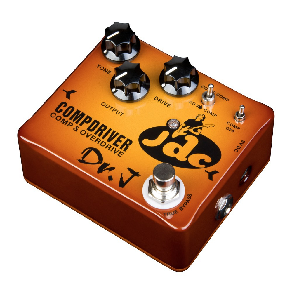 product Dr. J Compdriver JDC Jose de Castro Signature Compressor plus Overdrive Effect Hand Made Electric Guitar Effect Pedal
