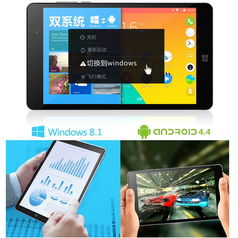 Original VOYO WinPad A1 Mini 64GBROM 2GBRAM Android 4 4 Windows 8 1 Dual OS Tablet