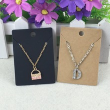 Buy 200pcs 7*5cm Kraft Paper Necklace Card Blank Pendant Card Jewelry Packing Cards jewelry accessory Display packing Card for $2.47 in AliExpress store