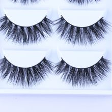 Hot 5Pairs Sexy 100% Mink Hair Natural Thick Handmade False Fake Eyelashe 3D Beauty Long EyeLashes Makeup Extension High Quality(China (Mainland))