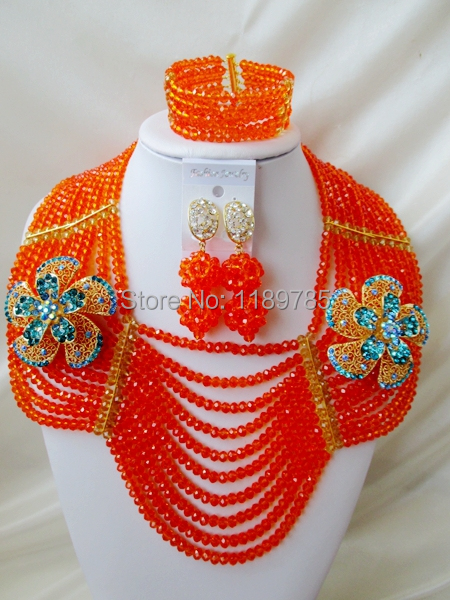 Big promotion Free Shipping African Wedding Jewelry Set Costume Nigerian  Crystal Beads Jewelry Set Wholesale NEW A-10228<br><br>Aliexpress