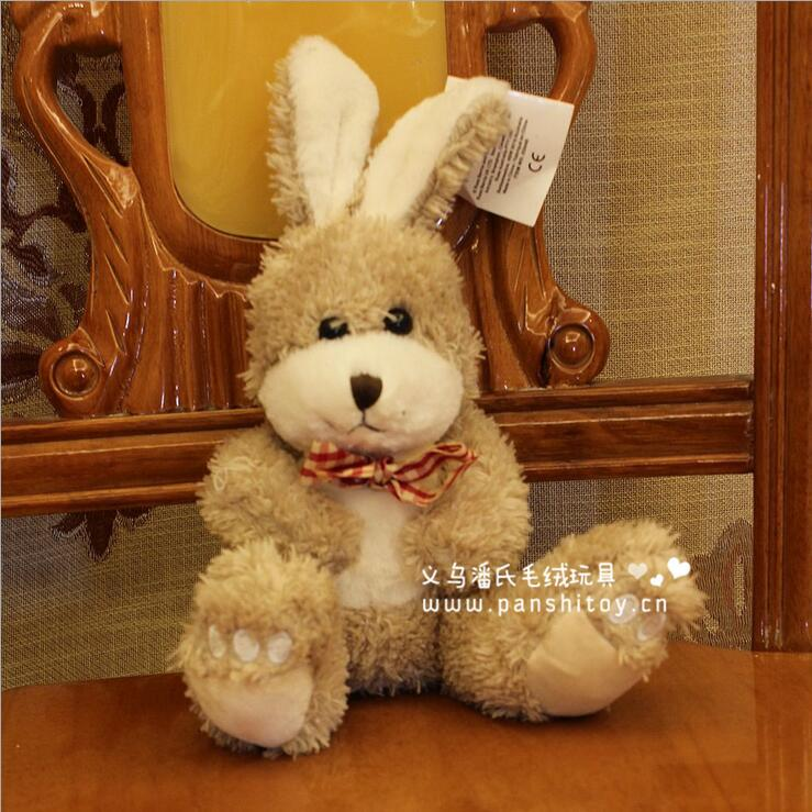 1pcs 15cm super cute rabbit with tie plush toy doll, girl's valentines day gifts tie rabbit stuffed toy(China (Mainland))
