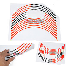 "FREE SHIPPING Orange 17"" Wheel Sticker Rim Decals Strips FIT For KTM Powersport Duke 125 200 390(China (Mainland))"