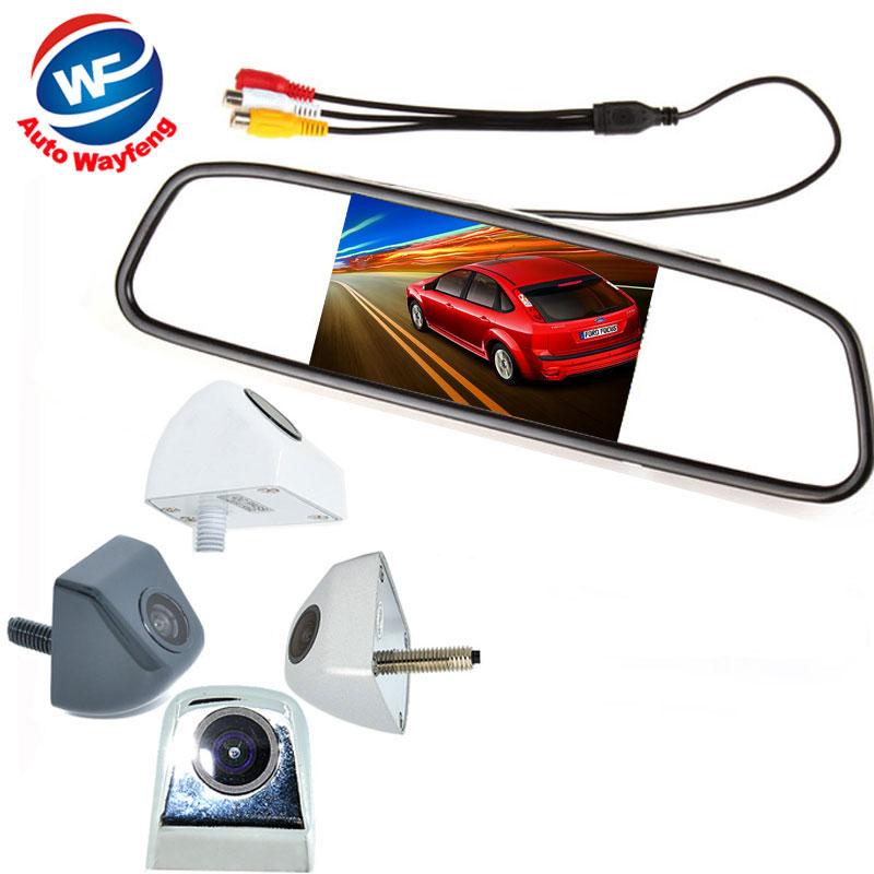 """2 in 1 HD CCD backup reversing Camera + 5"""" HD 800*480 Car Mirror Monitor , rear view mirror monitor car parking camera(China (Mainland))"""