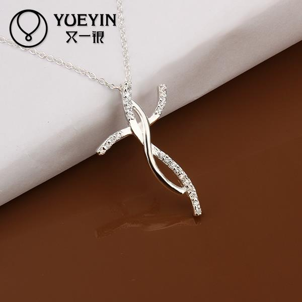 Free shipping 925 silver fashion jewelry necklace pendants chains, 925 silver necklace long cross pendant erjc hlts N380(China (Mainland))