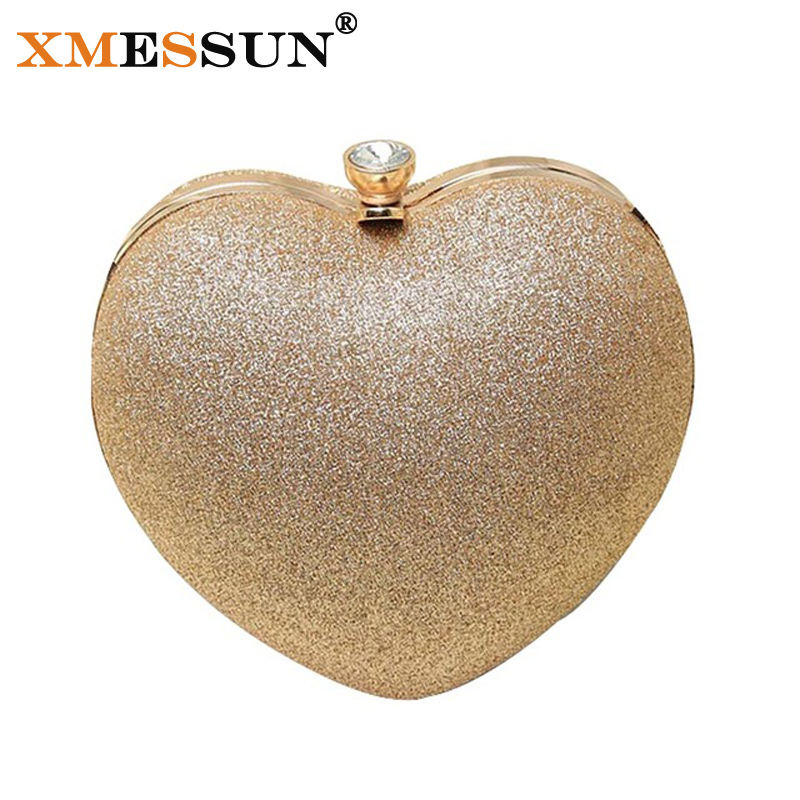 Small Mini Evening Bag Ladies Clutch Purse for Party Heart Bag Hard Box Day Clutches Shoulder Bags Crossbody Women Clutch Bags(China (Mainland))
