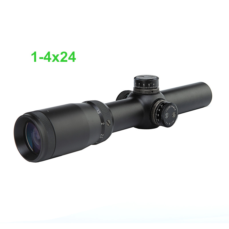 CS1-075 NEW Rifle Scope 1-4X24 Scopes Tactical Optical Sight Riflescope for Hunting Duck Shooting Free Shipping<br><br>Aliexpress
