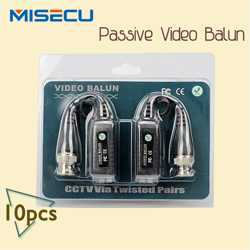 Video Balun BNC connector CCTV Via twisted pairs UTP Transceiver CAT5 cctv cable 10pais/lot freeshipping(China (Mainland))