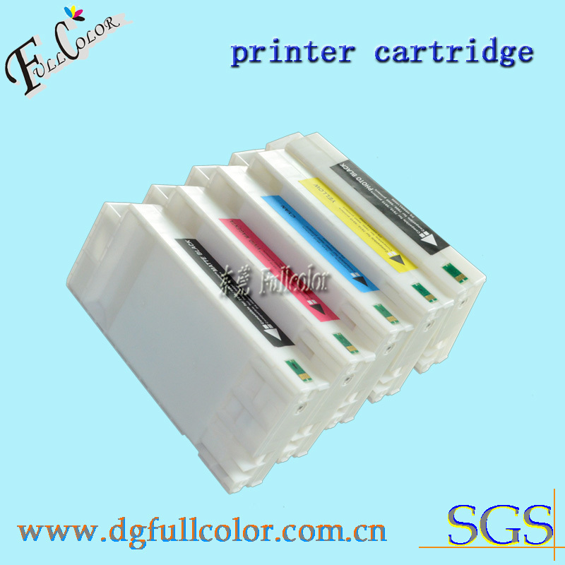 Free shipping 350ML replace genuine ink cartridge compatible for epson stulus pro 9908 with chip and pigment ink 9color(China (Mainland))
