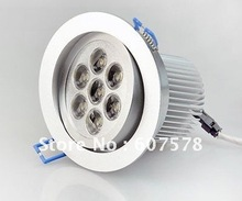 High Power 7 LED White Ceiling Recessed Light Lamp 7w(China (Mainland))