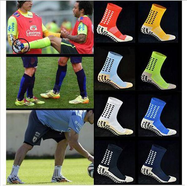 New Anti Slip Soccer Socks Cotton Football Socks Men Socks Calcetines free shipping high quality brand(China (Mainland))