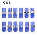 10pcs 3d Clear Crystal AB Alloy Rhinestone Bow Tie Nail Art Slices DIY Beauty Salon Charm