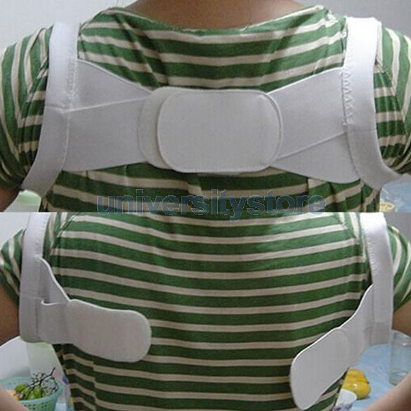 Adjustable Therapy Back Support Brace Band Posture Shoulder Corrector XL CA1T(China (Mainland))