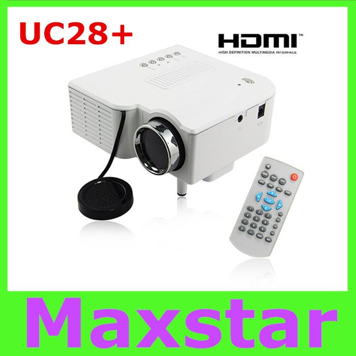 Top Quality UC28+ Mini Portable Home Theater Cinema Projector LED Domestic Projector VGA USB SD AV HDMI<br><br>Aliexpress