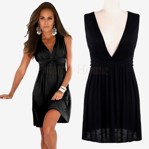 Aliexpress.com: Comprar Vestido con cuello en v sin mangas, mujeres y ...