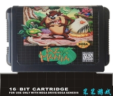 Sega 16bit MD games card: Taz Mania For 16 bit Sega MegaDrive Genesis game console