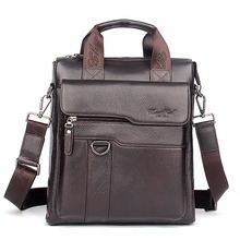 Buy Real Genuine Leather Men Business Single Shoulder Bag Fashion Trend Cross Body Messenger Bags Male Tote Handbag Luxury Briefcase for $38.15 in AliExpress store