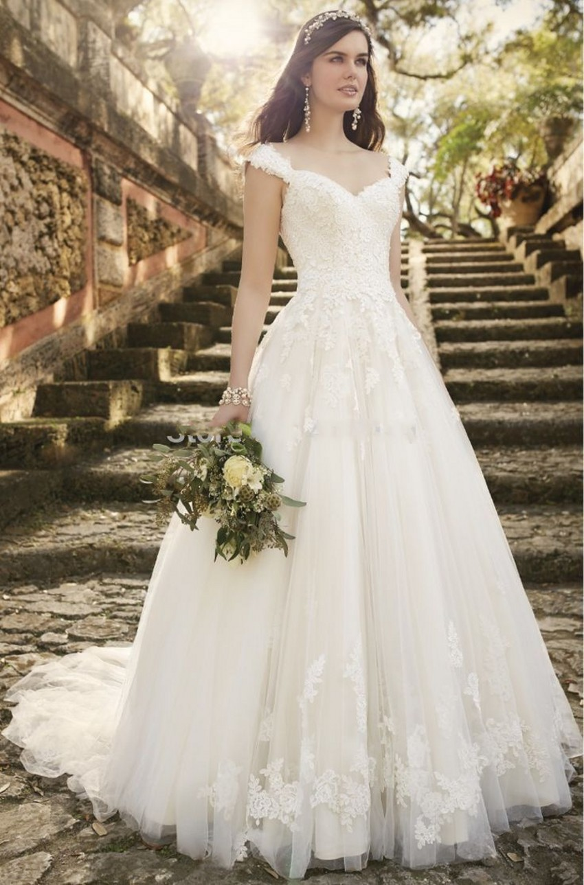 Romantic Bridal Gowns : Aliexpress buy vintage lace wedding dresses cap