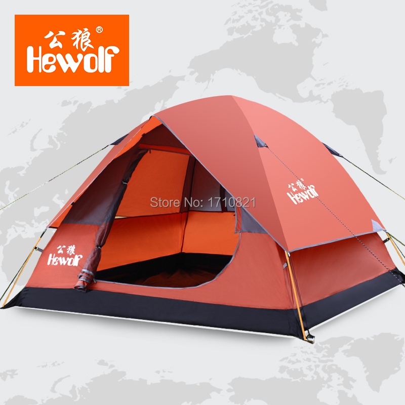 Male wolf outdoor tent camping Pole 3-4 rain than double bunk camping equipment 34<br><br>Aliexpress