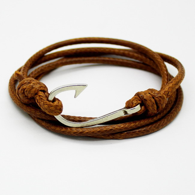 New Fashion Retro Leather Bracelets for men Popular Charismatic Personality bandages Toggle-clasps Anchor bracelets brown.(China (Mainland))
