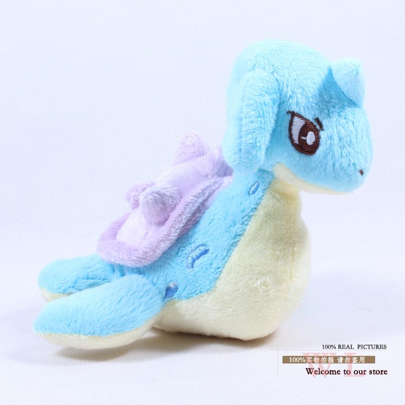 """Plush Pokemon figure toy Pikachu Soft Doll stuffed animal 4.5"""" 11cm new Lapras 10pcs/lot Free shipping High quality Pokemon(China (Mainland))"""
