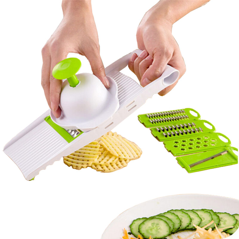 shredder Kitchen multifunction Qiecai five sets Slicers into strips device Grater Cut potatoes wire 28*10.8*3cm 290g H-126(China (Mainland))