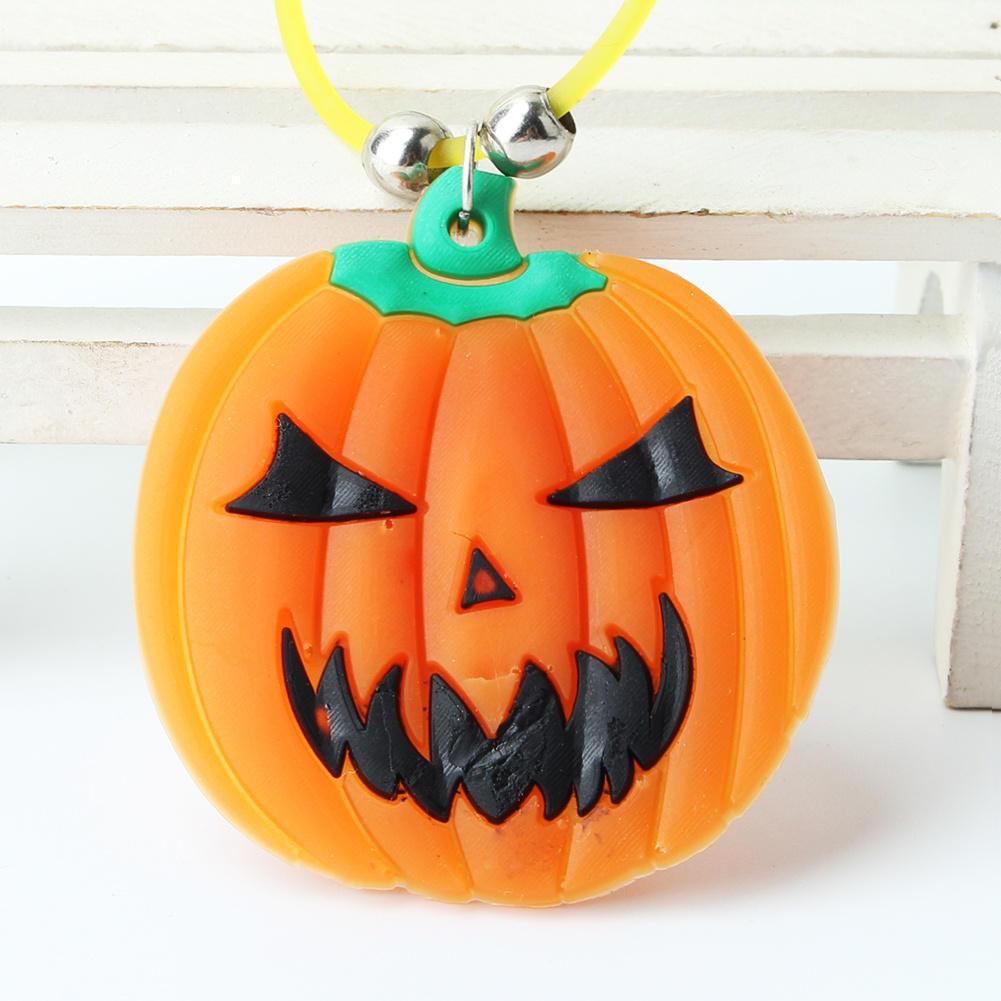 2pcs Funny Glow Stick Pumpkin Pendant Necklace For Halloween Cos play Dress Prop HG02883S01(China (Mainland))